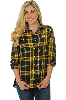 fbd97df9f74 Amazon.com   UG Apparel NCAA Women s Boyfriend Plaid Roll Up Sleeve ...