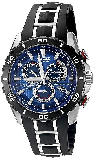 Citizen Eco-drive hombre at4021 - 02L perpetuo Chrono A-T reloj: Amazon.es: Relojes