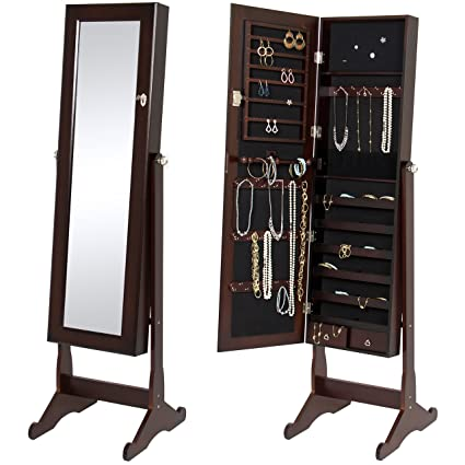 Amazoncom Best Choice Products Mirrored Jewelry Cabinet Armoire W