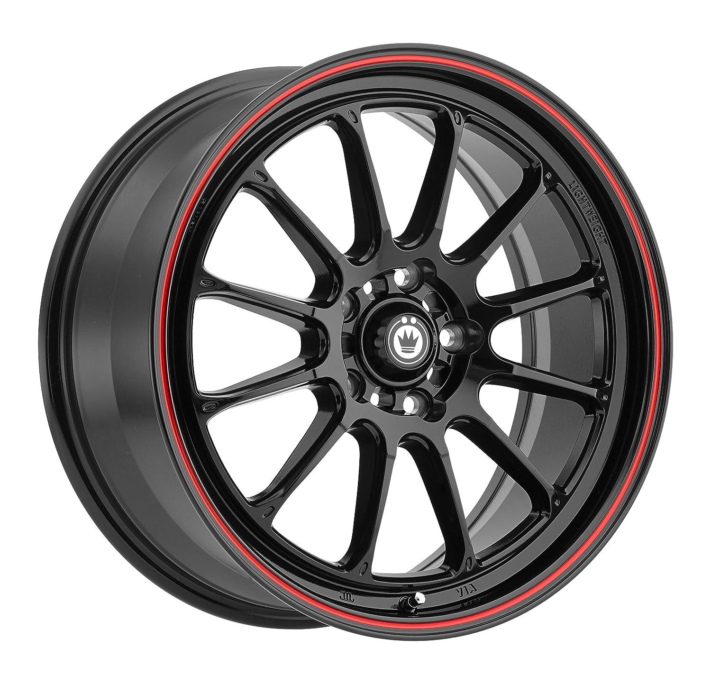 Konig TWEAKD Gloss Black Wheel with Red Stripe (17x8'/5x100mm, 35mm offset) T387510355