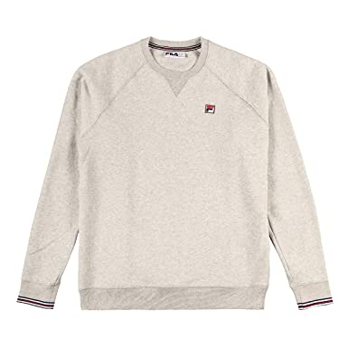 Fila Vintage Mens pozzi Sweatshirt, Grey, Medium