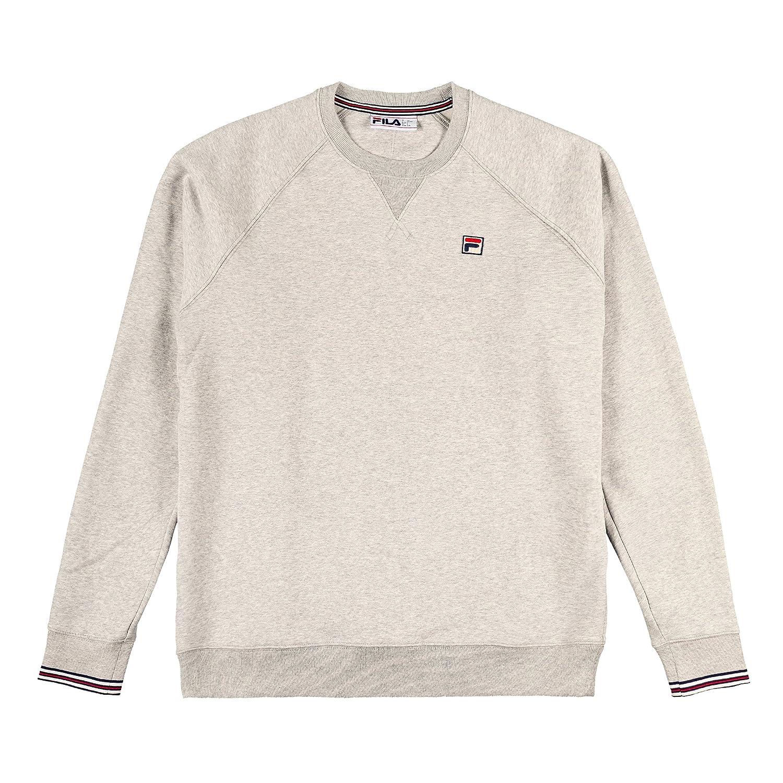 Fila Vintage Herren Pozzi Sweatshirt, Schwarz