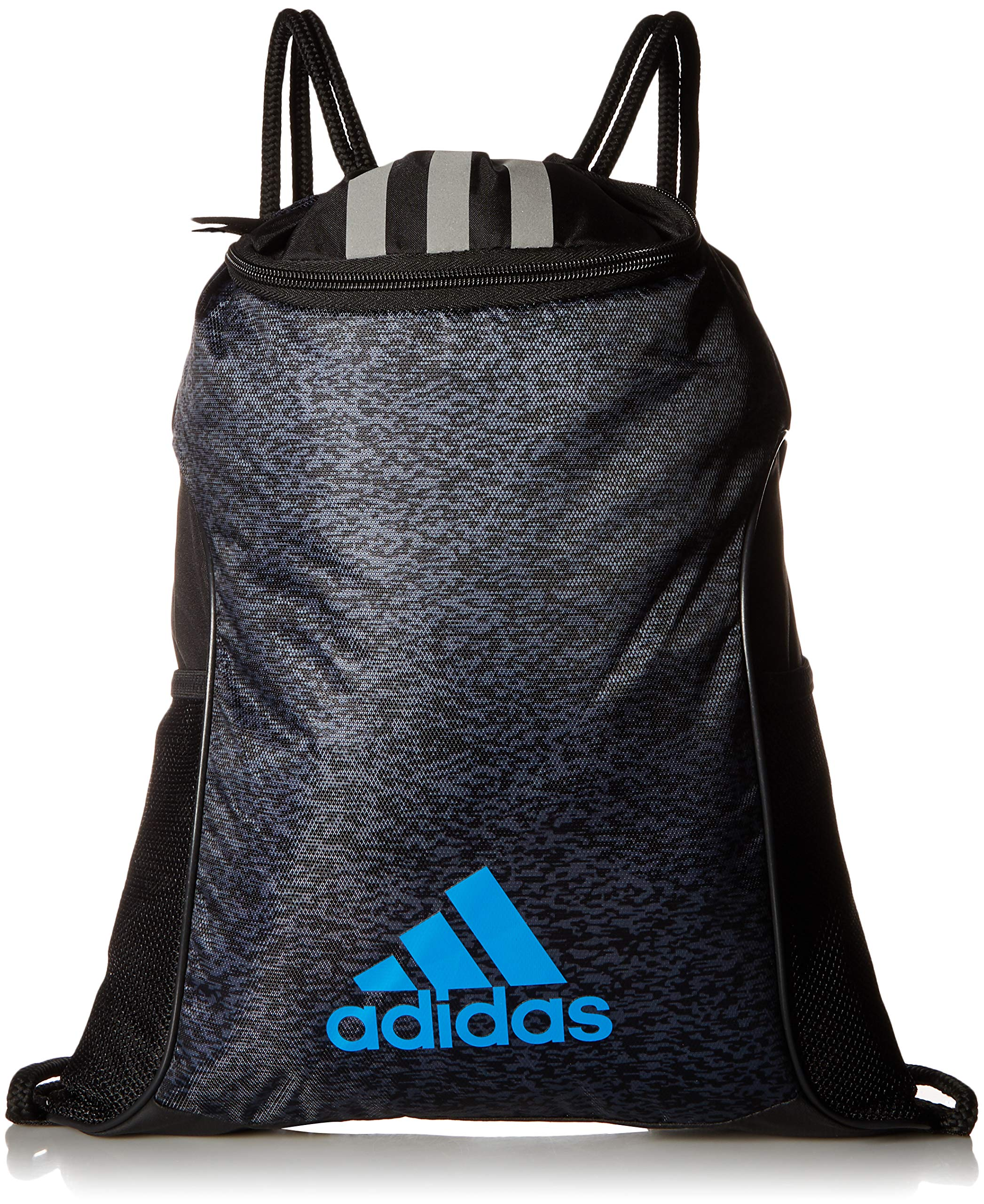 adidas Team Issue II Sackpack, Onix Pixel/Black/Bright Blue, One Size