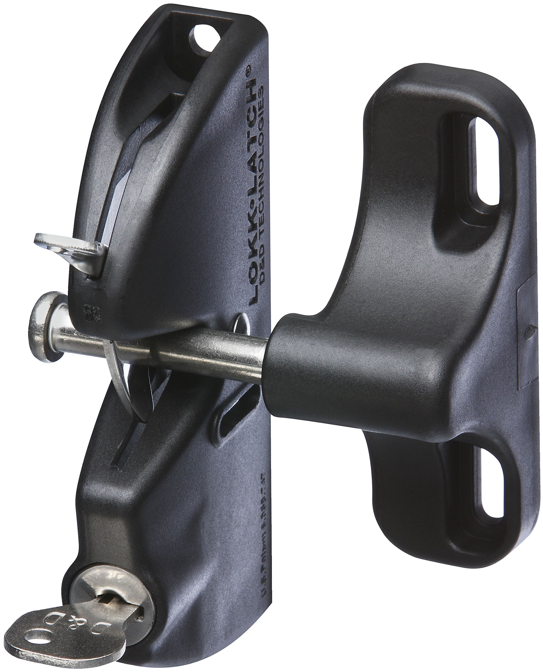 National Hardware N346-201 V6201 LokkLatch in Black, 4-9/16''