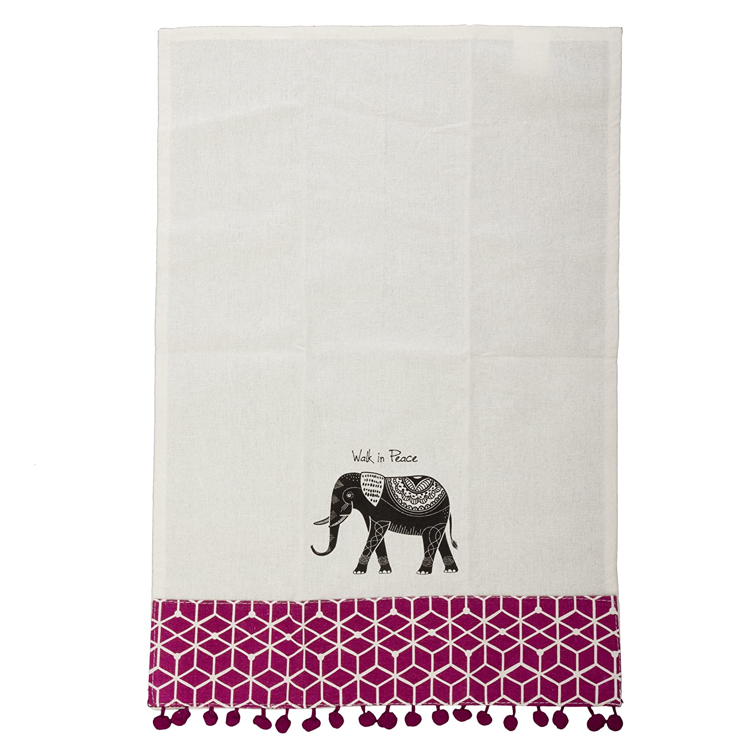 Amazon.com: Karma Gifts Black and White Tea Towel, Sugar Skull ...