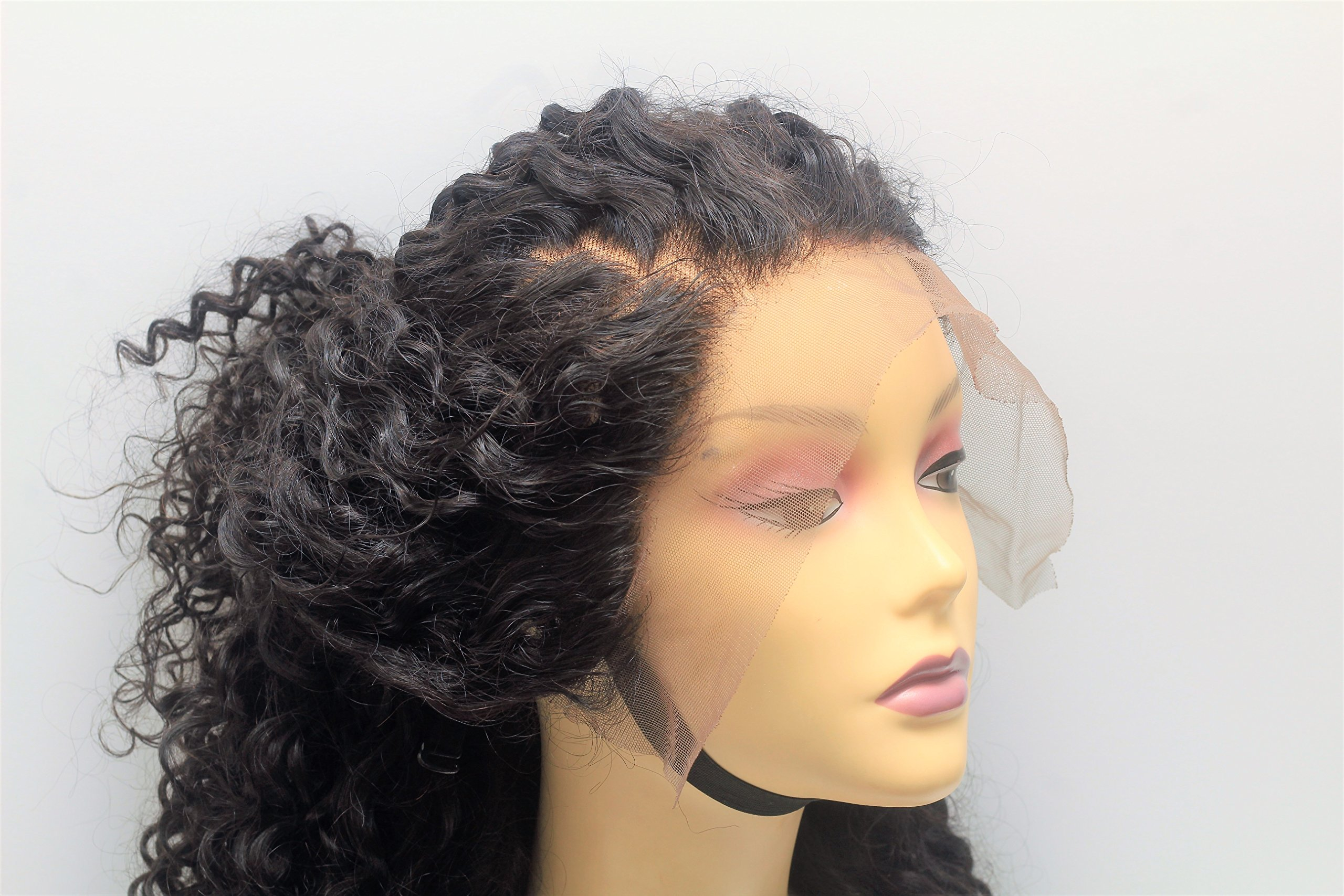 Curly Human Hair Wig Glueless Lace Front Wig Hand Made Wig