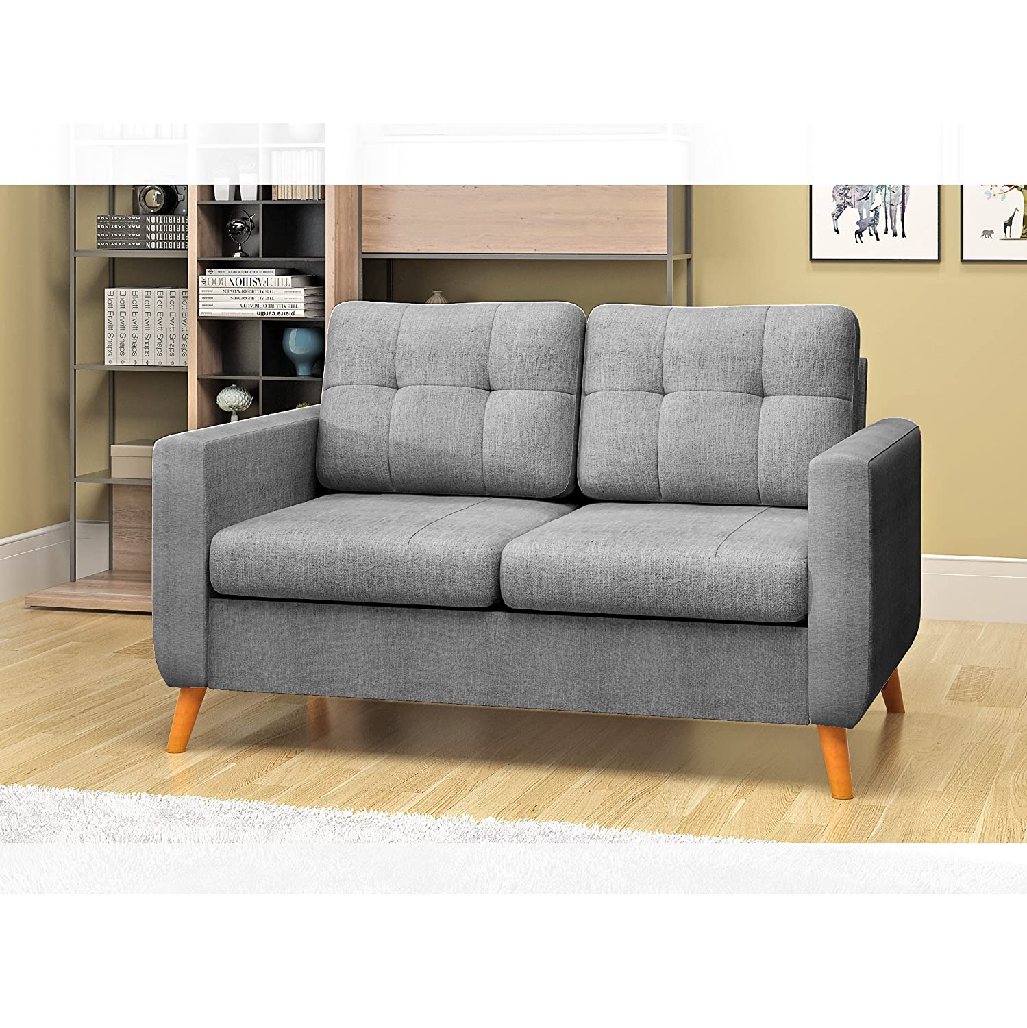 Pleasant Feifeiyo 3 Seater Sofa And 2 Seater Fabric Grey Sofa Settee Couch Andrewgaddart Wooden Chair Designs For Living Room Andrewgaddartcom