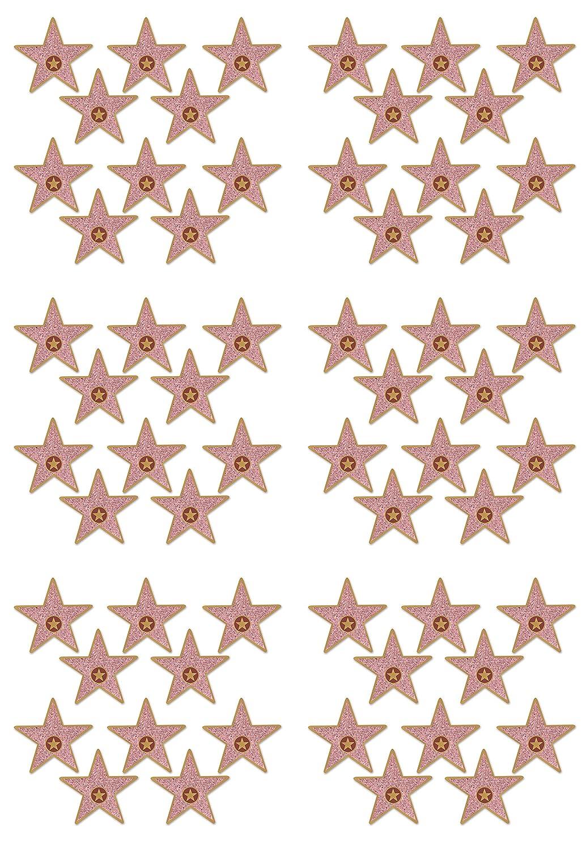 "Beistle S58048AZ6 Mini""Star"" Cutouts 60 Piece, Multicolored"