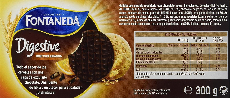 Fontaneda Digestive Galletas Negras con Naranja - 300 gr: Amazon.es: Amazon Pantry