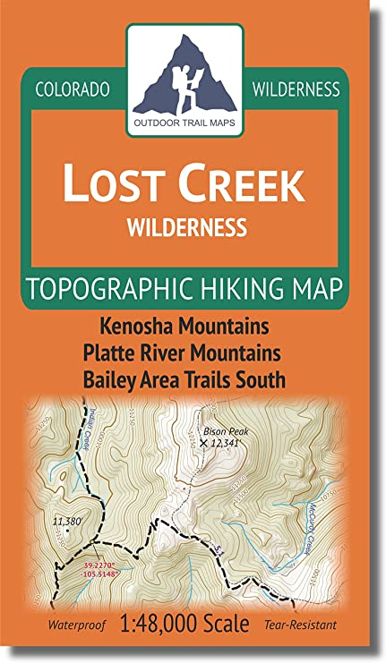 Lost Creek Wilderness - Colorado Topographic Hiking Map (2018) on orienteering map, hiking tours, hiking trail, following a map, trail map, hunting map, space exploration map, hiking tracks, nature map, places to go map, hiking tips,