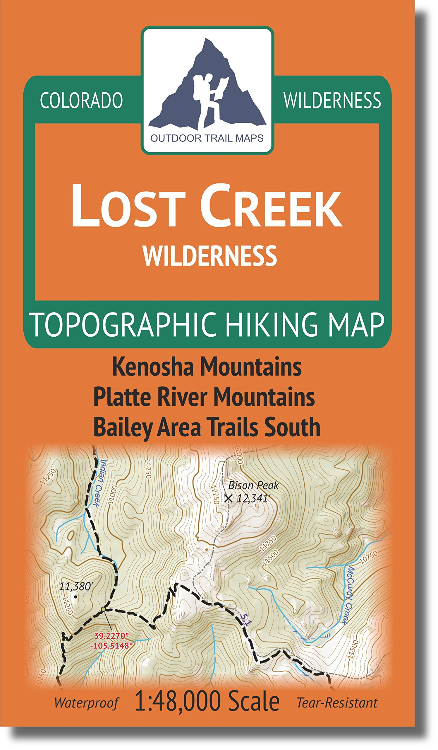 Lost Creek Wilderness - Colorado Topographic Hiking Map (2018)