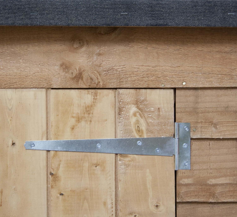 6x3 overlap wooden garden shed double doors pent roof felt garden sheds by waltons amazoncouk garden outdoors