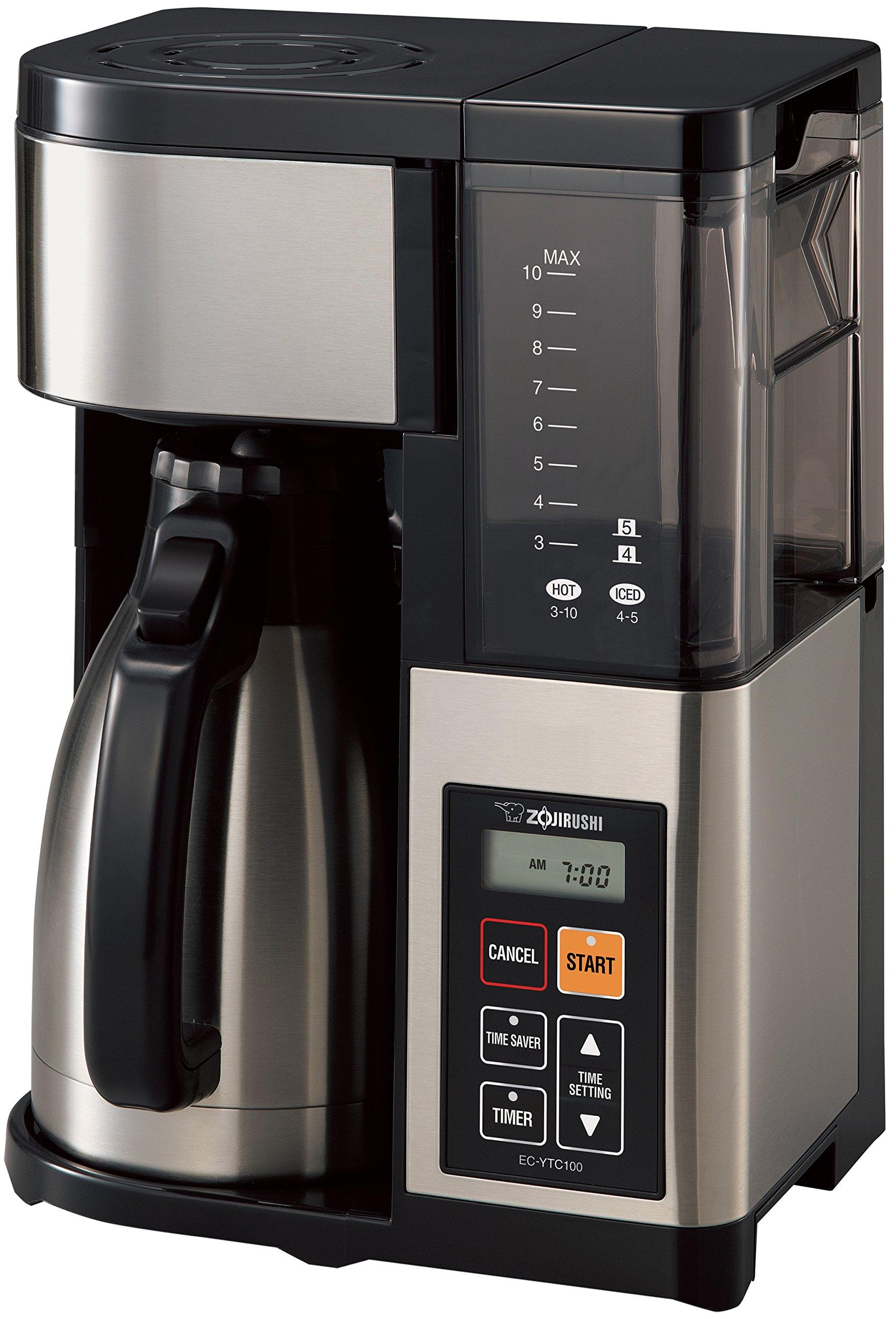 Zojirushi EC-YTC100XB Coffee Maker 10 Cup Stainless Steel/Black