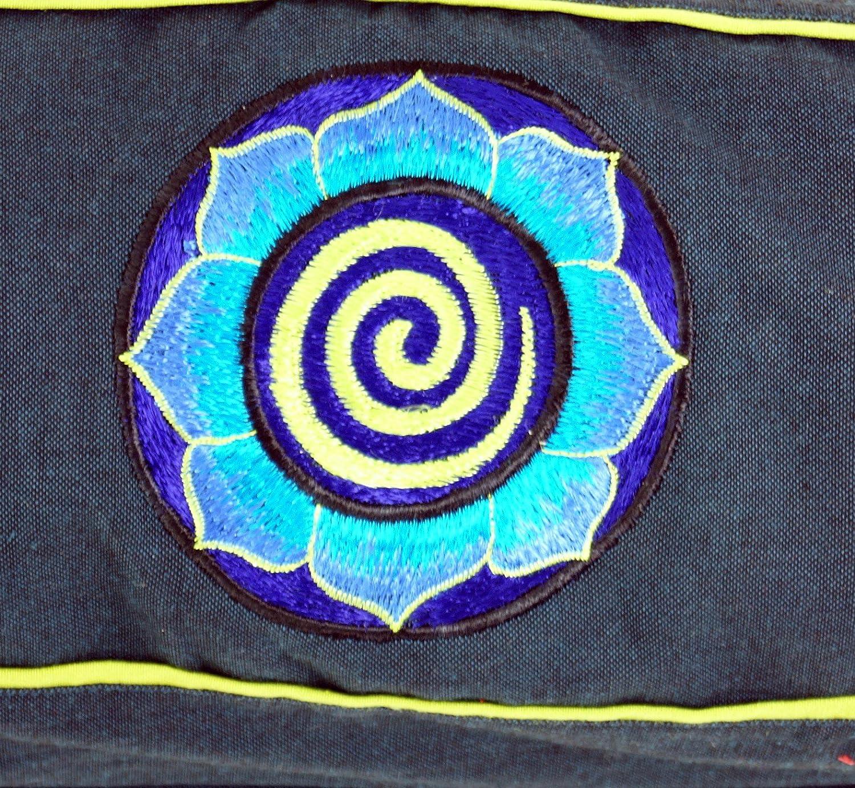 65x15x15 cm Size:One Size Borse per Tappetini Yoga Cotone Benzina Scura Blu Unisex GURU-SHOP Yoga mat bag Spirale Borsa Yoga Adulti