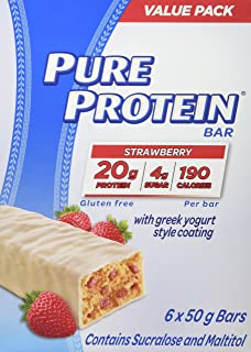 Pure Protein Strawberry With Greek Yogurt Style Coating Value Pack 6 Count