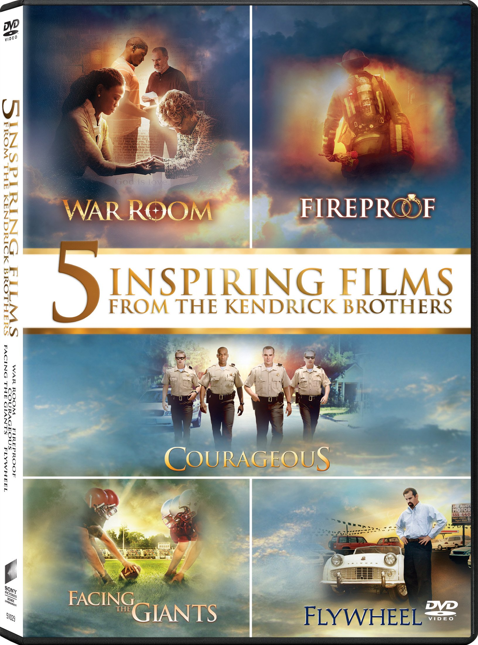 Courageous/ Facing The Giants/ Fireproof/ Flywheel/ War Room (2015) (Widescreen, Dolby, AC-3, Subtitled, 5PC)