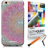 CASEiLIKE Art Mandala 2090 Ultra Sottile paraurti custodia for Apple iPhone 6 / 6S (4.7 inch) +Protector de Pantalla+Penne stilo a scomparsa (colore casuale)