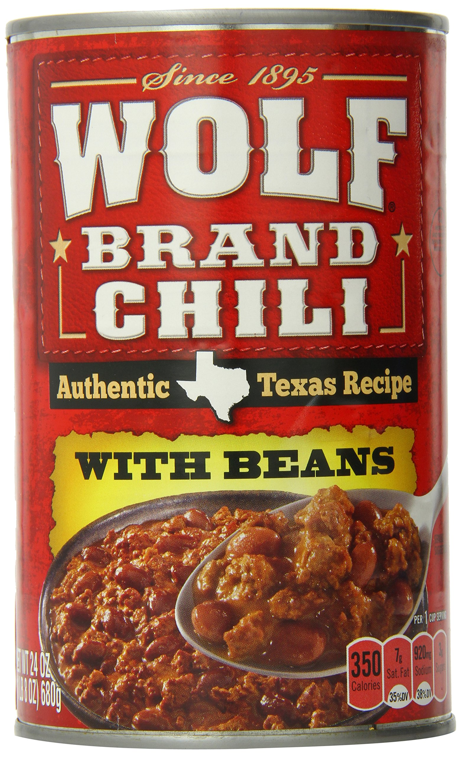 Wolf Brand Chili with Beans, 24 Ounce by Wolf Brand Chili