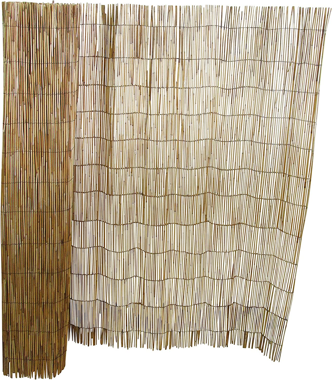 Master Garden Products RF-4 Natural Reed Fence, 4'H x 14'L