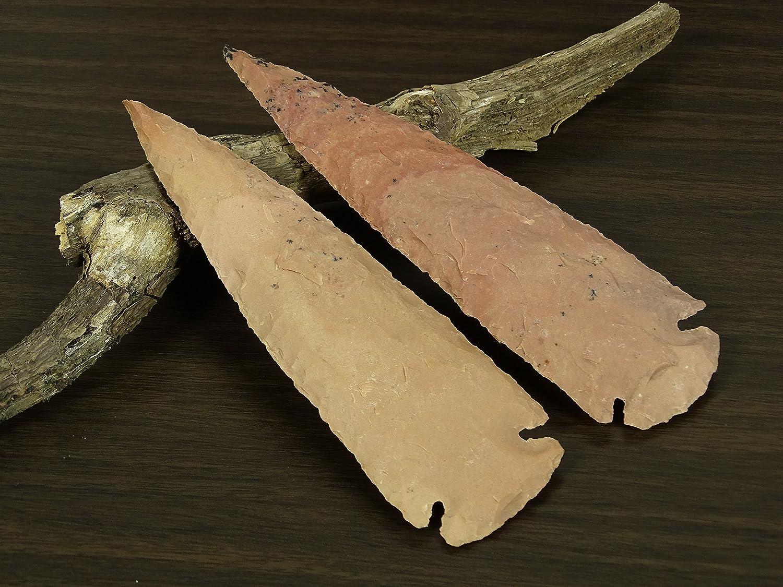 Reikiera 2 x Artesanal de ágata India Piedra Punta de Lanza 8 Pulgadas Arrowhead