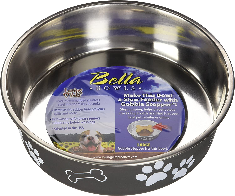 Loving Pets 7406 Bella Bowl for Dogs, Large, Espresso