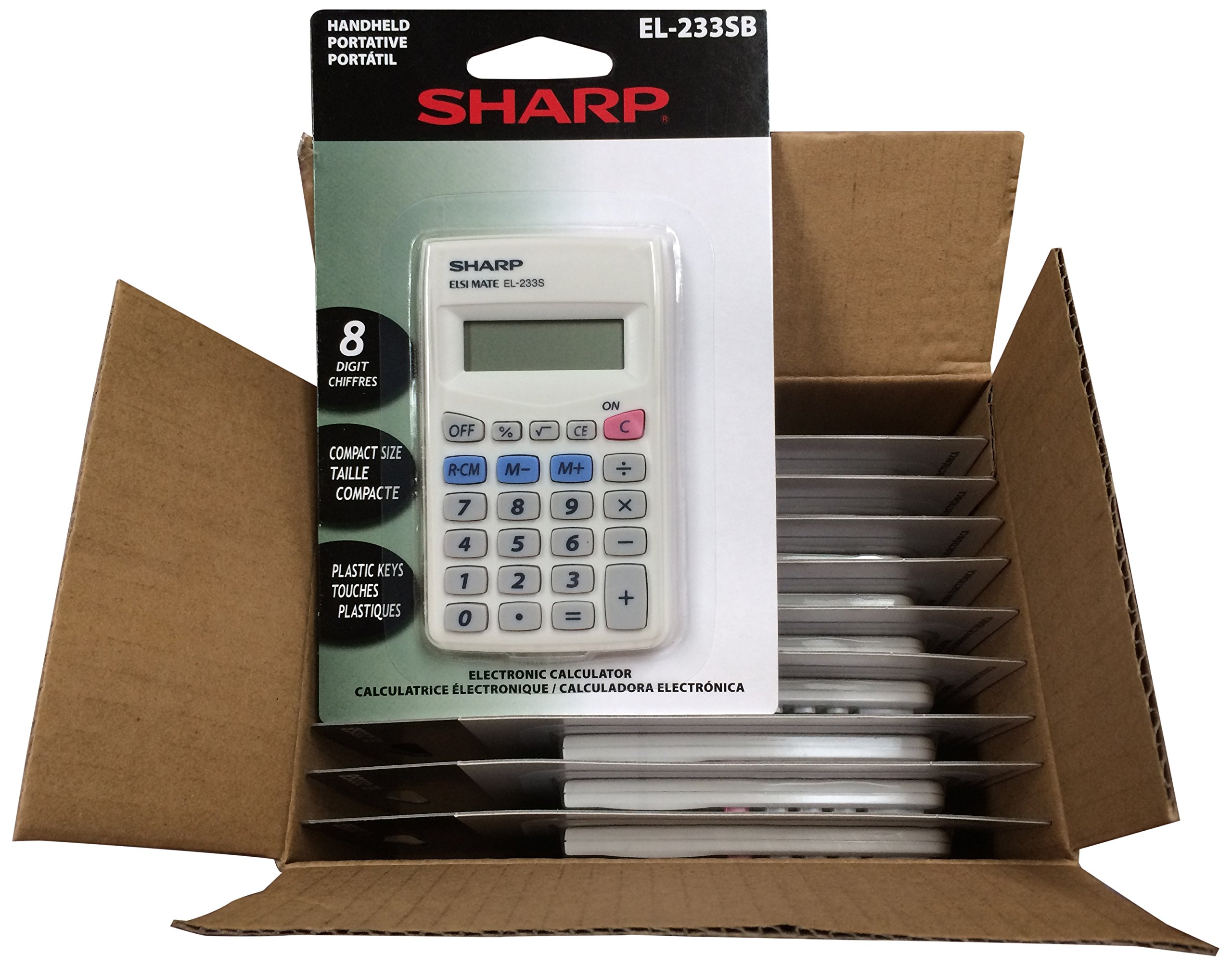 Sharp EL233SB 10 Pack EL233SBX10 Calculator
