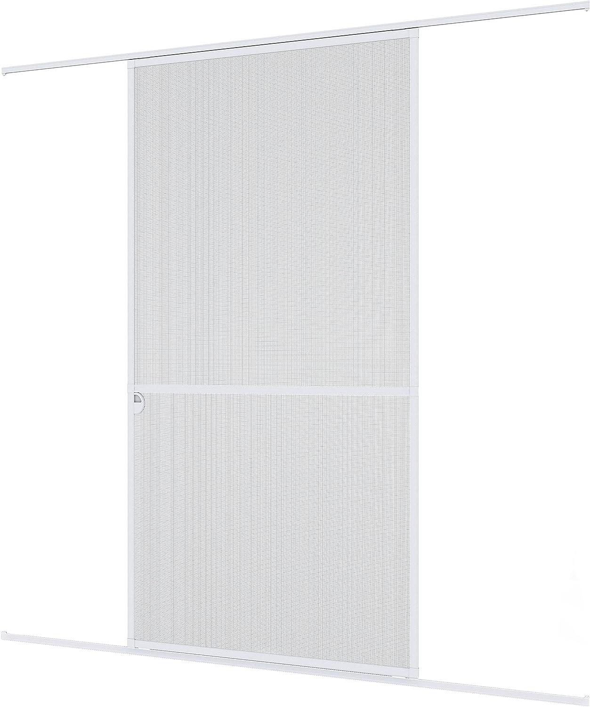 Windhager mosquitera corredera Expert, Marco de Aluminio para Puertas, 120 x 240 cm, Blanco, 03843