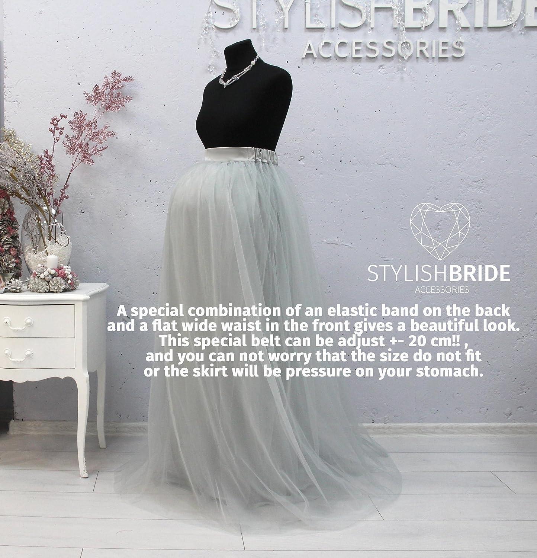 180ab82f6f Amazon.com  Maternity Long Tulle Skirt