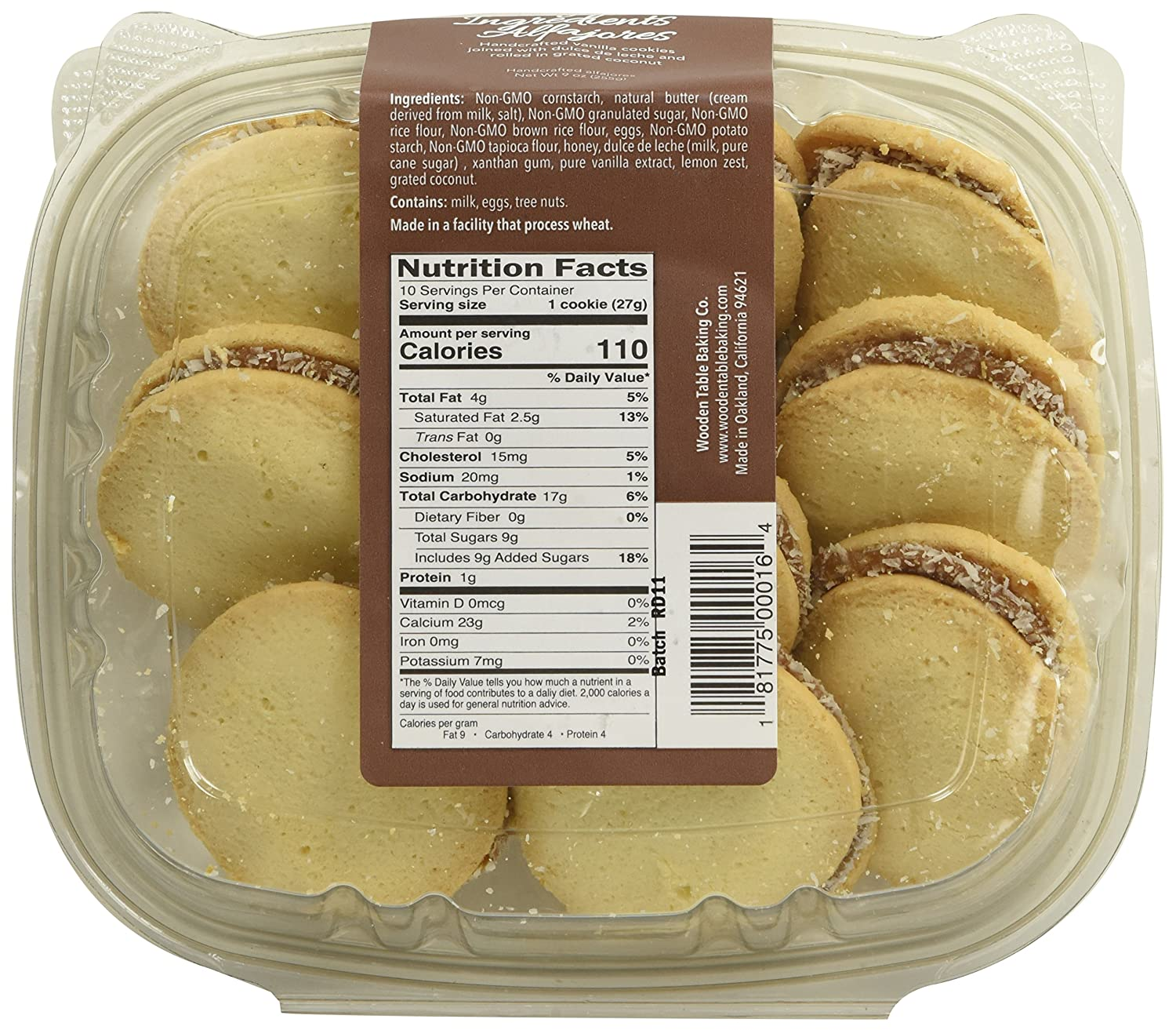 Wooden Table Gluten Free Traditional Alfajores, 10 Oz: Amazon.com: Grocery & Gourmet Food