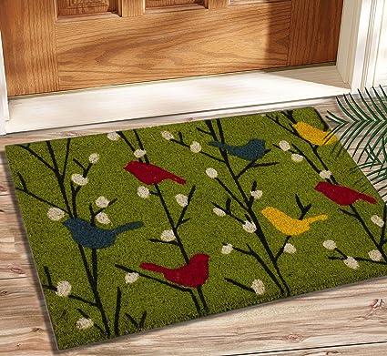 Saral home 100% coir made heavy duty anti slip door mat. Size 40x 60 cm