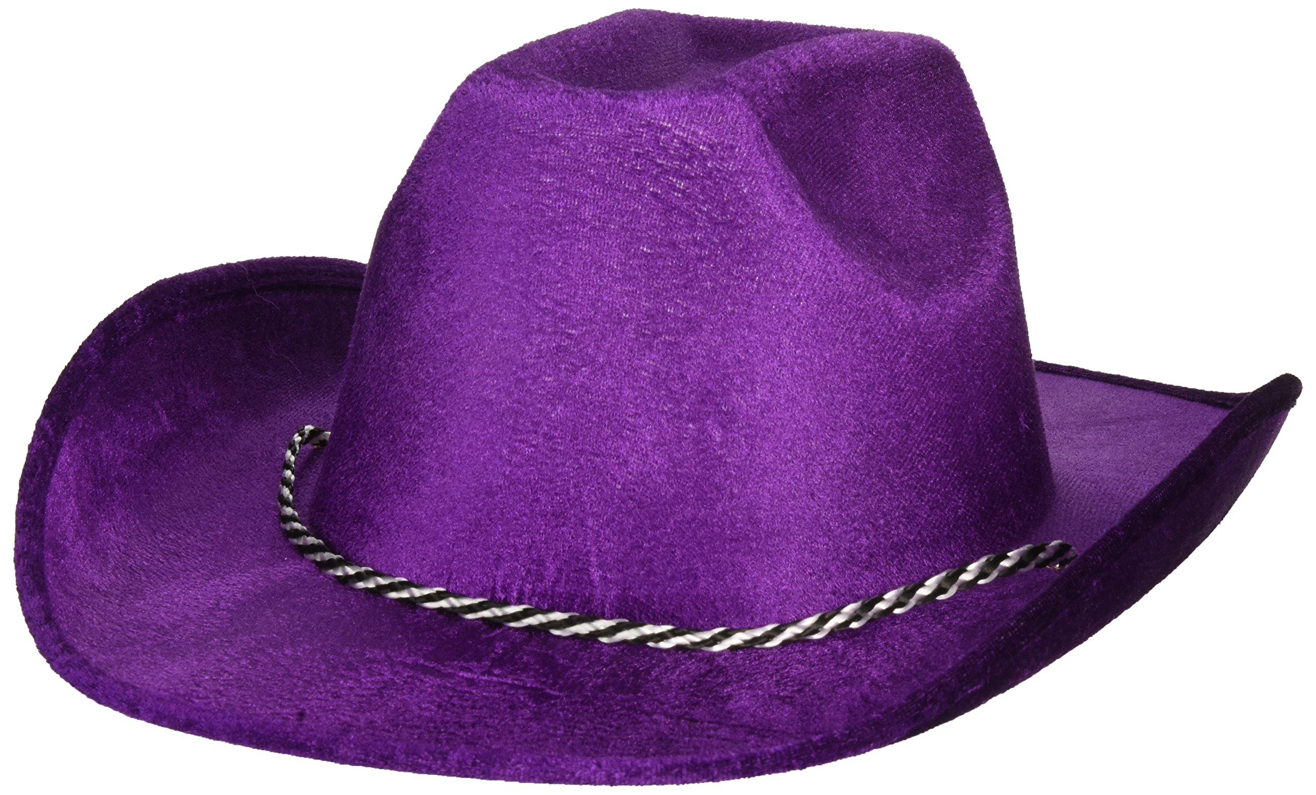Purple Velour Cowboy Hat, Party Accessory, 6 Ct.