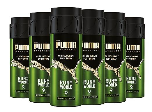 release info on 50% off the latest Puma 48h Deodorant Body Spray Run The World