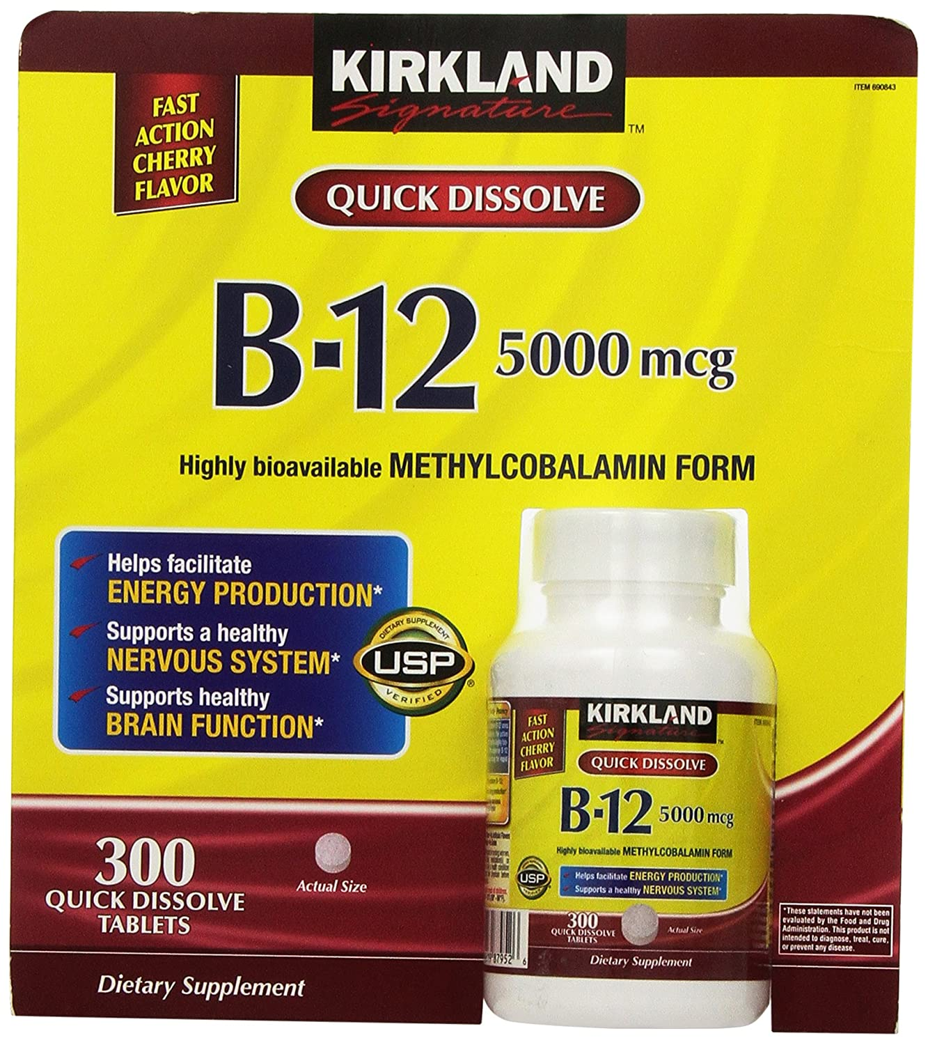 Kirkland Signature Sublingual B-12 5000 mcg