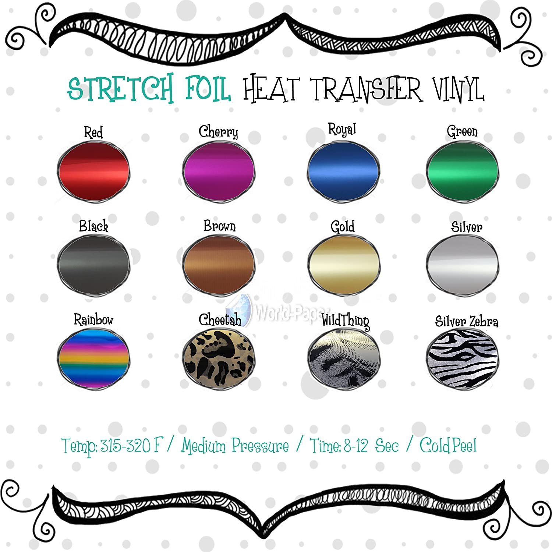 Heat Transfer Vinyl Soft-Stretch 15 x 1,2,3,5,10 Yards.