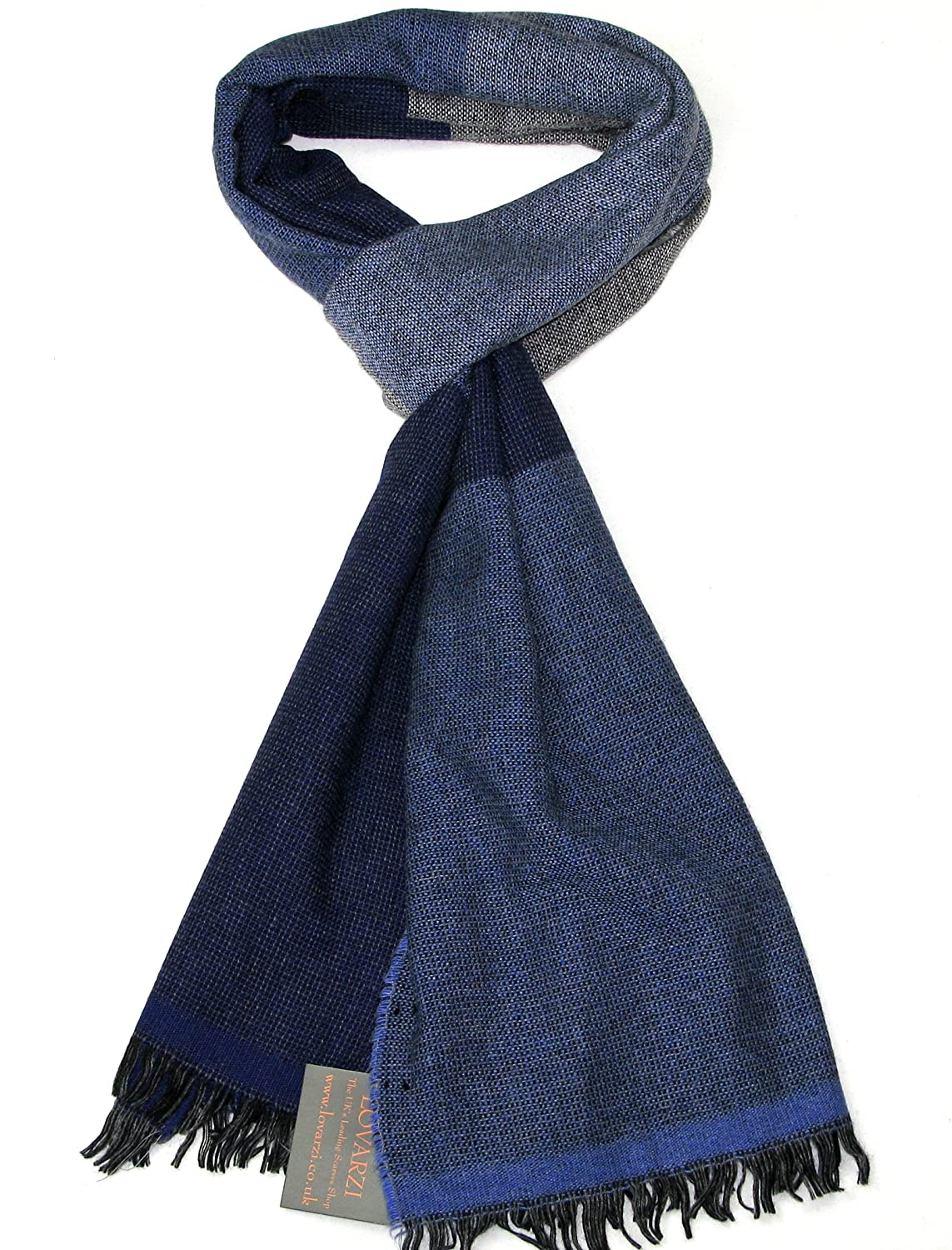 95cc181b385ee Mens Scarves Brown - Lovarzi Wool Winter Scarf for Men - Striped Warm and Soft  Scarves - Gifts: Amazon.co.uk: Clothing