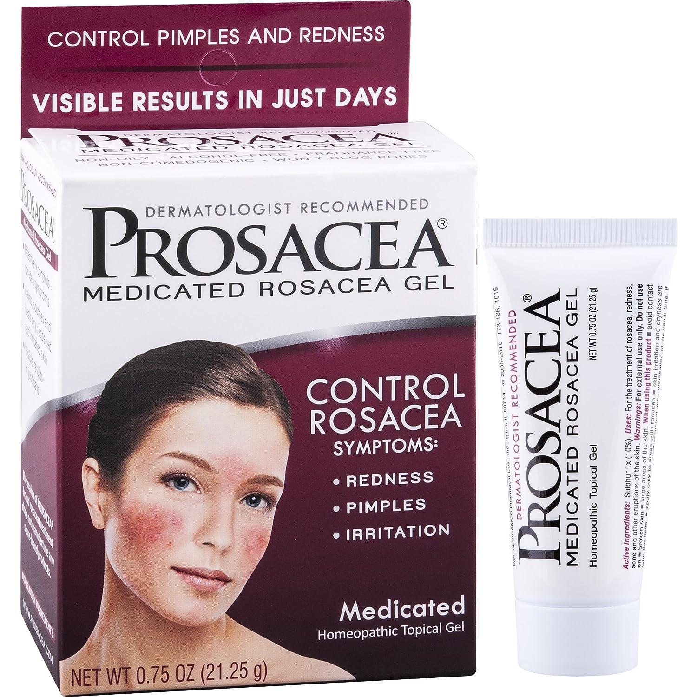 PROSACEA Rosacea Treatment Homeopathic Topical Gel, .75 oz (Pack of 6) Bio Creative Labs - Natural Remedy Critical Repair Cream - 3 oz.
