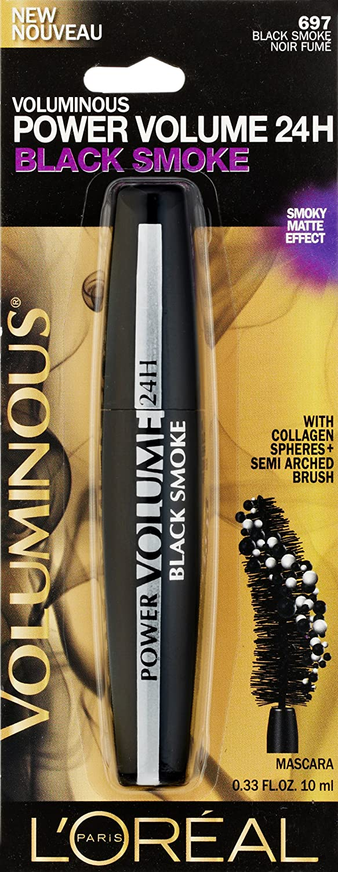 09d5c31f71a Amazon.com : L'Oreal Paris Voluminous Power Volume 24H Mascara, 681  Blackest Black, 0.33 Fluid ounce : Beauty