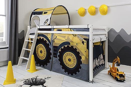 Etagenbett Traktor : Noa and nani etagenbett mit bagger zelt und tunnel whitewashed