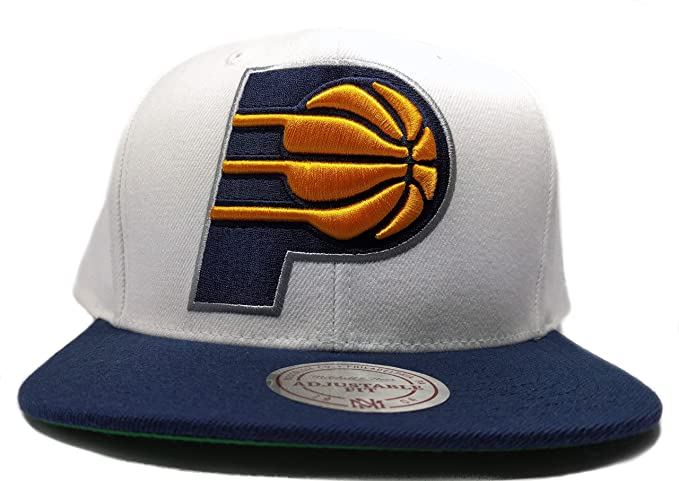 8631a43227d18 Image Unavailable. Image not available for. Color  Mitchell   Ness Indiana  Pacers XL Logo Classic Adjustable Snapback Hat NBA