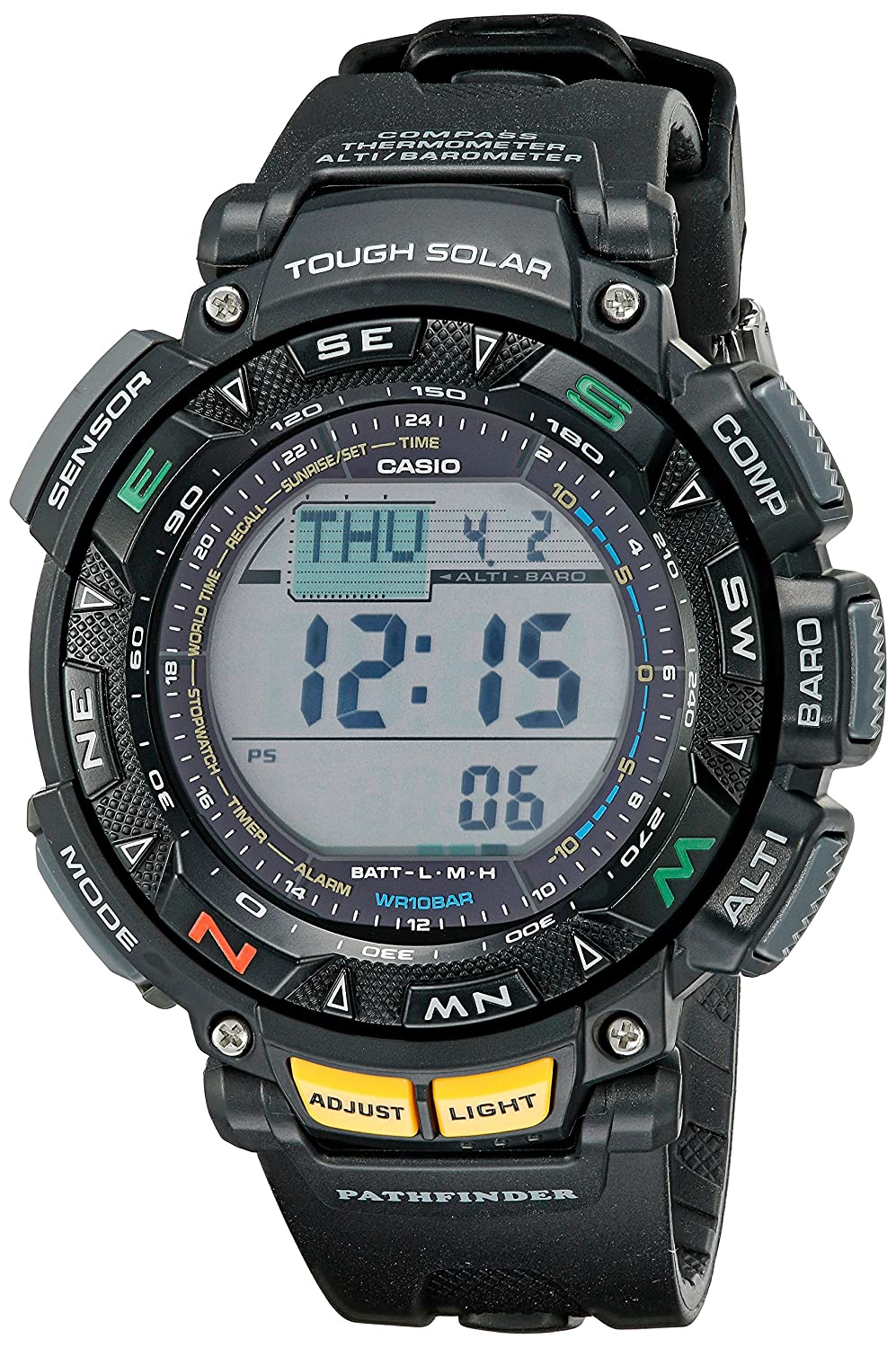 a601ccf35e37 Amazon.com  Casio Men s Pathfinder PAG240-1CR Solar Powered Triple Sensor  Sport Watch  Casio  Watches