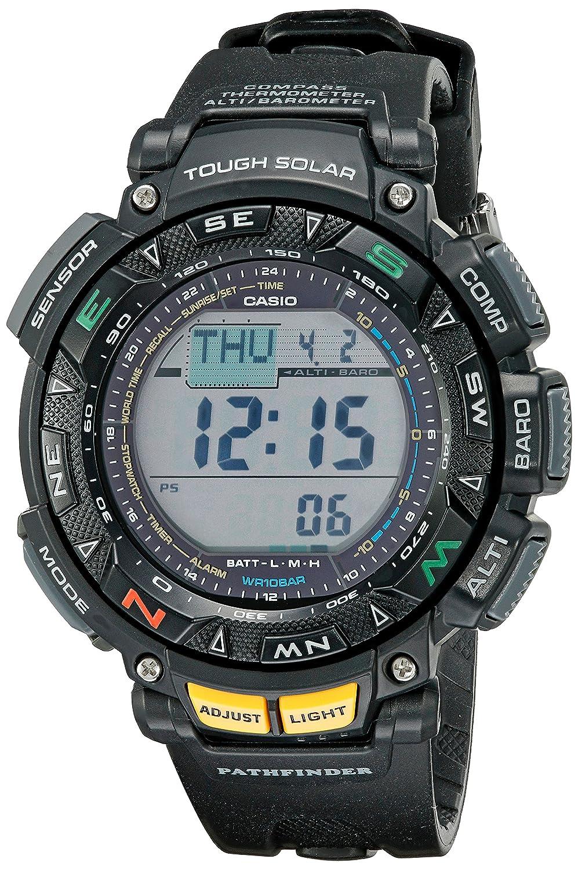 Amazon.com: Casio Men's Pathfinder PAG240-1CR Solar Powered Triple Sensor  Sport Watch: Casio: Watches