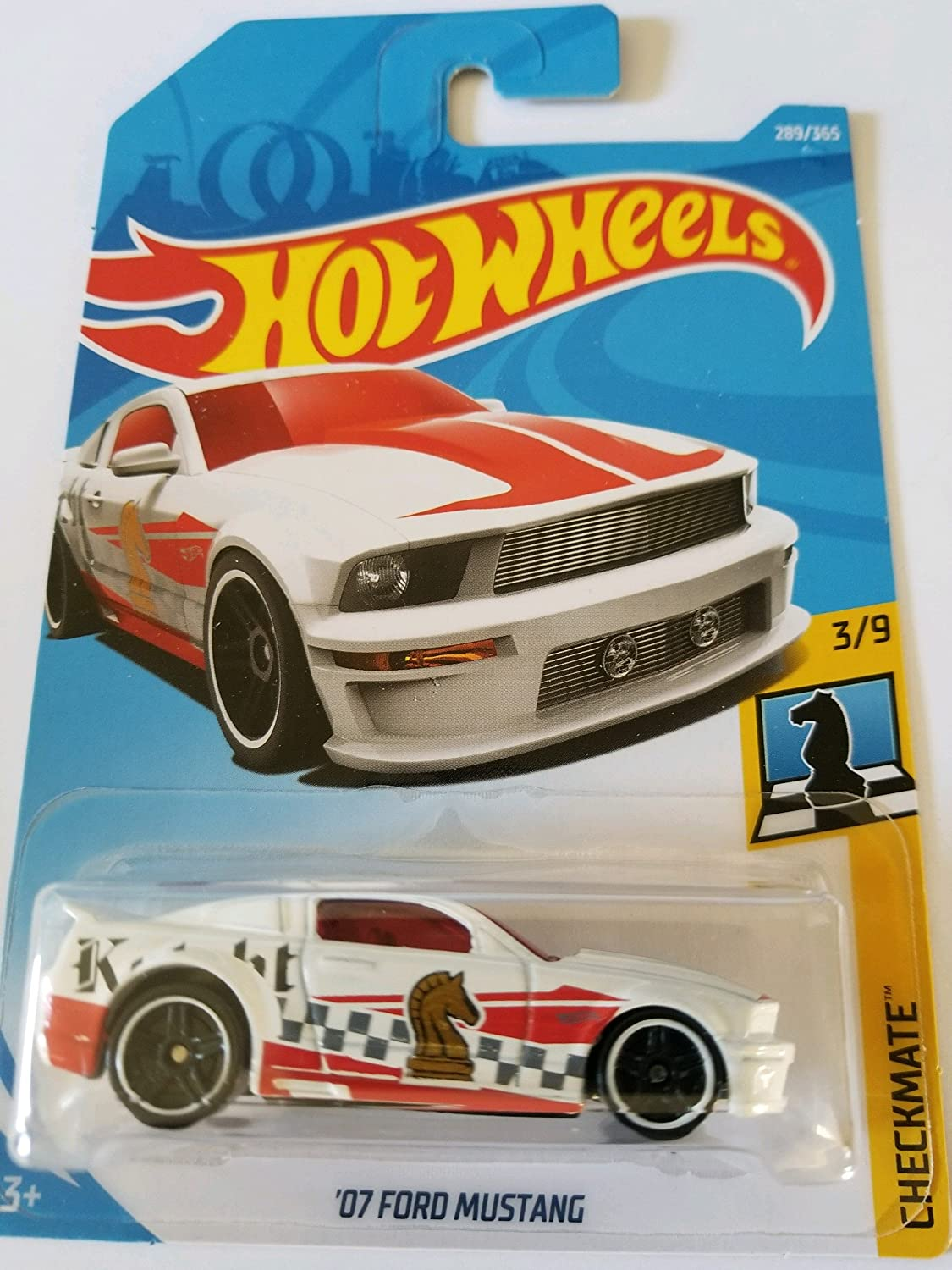 Amazon com hot wheels 2018 checkmate 3 9 07 ford mustang white