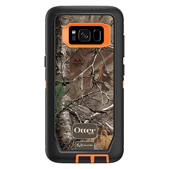 super popular faab8 f8a33 OtterBox DEFENDER SERIES SCREENLESS EDITION for Samsung Galaxy S8 - Retail  Packaging - REALTREE XTRA (BLAZE ORANGE/REALTREE XTRA CAMO)