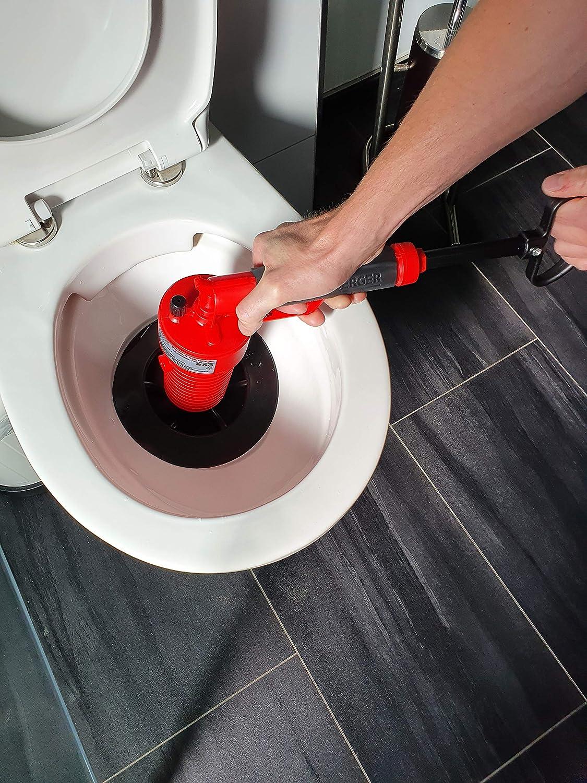Cocoarm Pressluft Rohrreiniger Hochdruck Abfluss/öffner Luftpumpe Abfluss Blaster f/ür Verstopfte Badewanne WC Rohr Badewanne mit 4 verschieden gro/ßen Saugn/äpfen