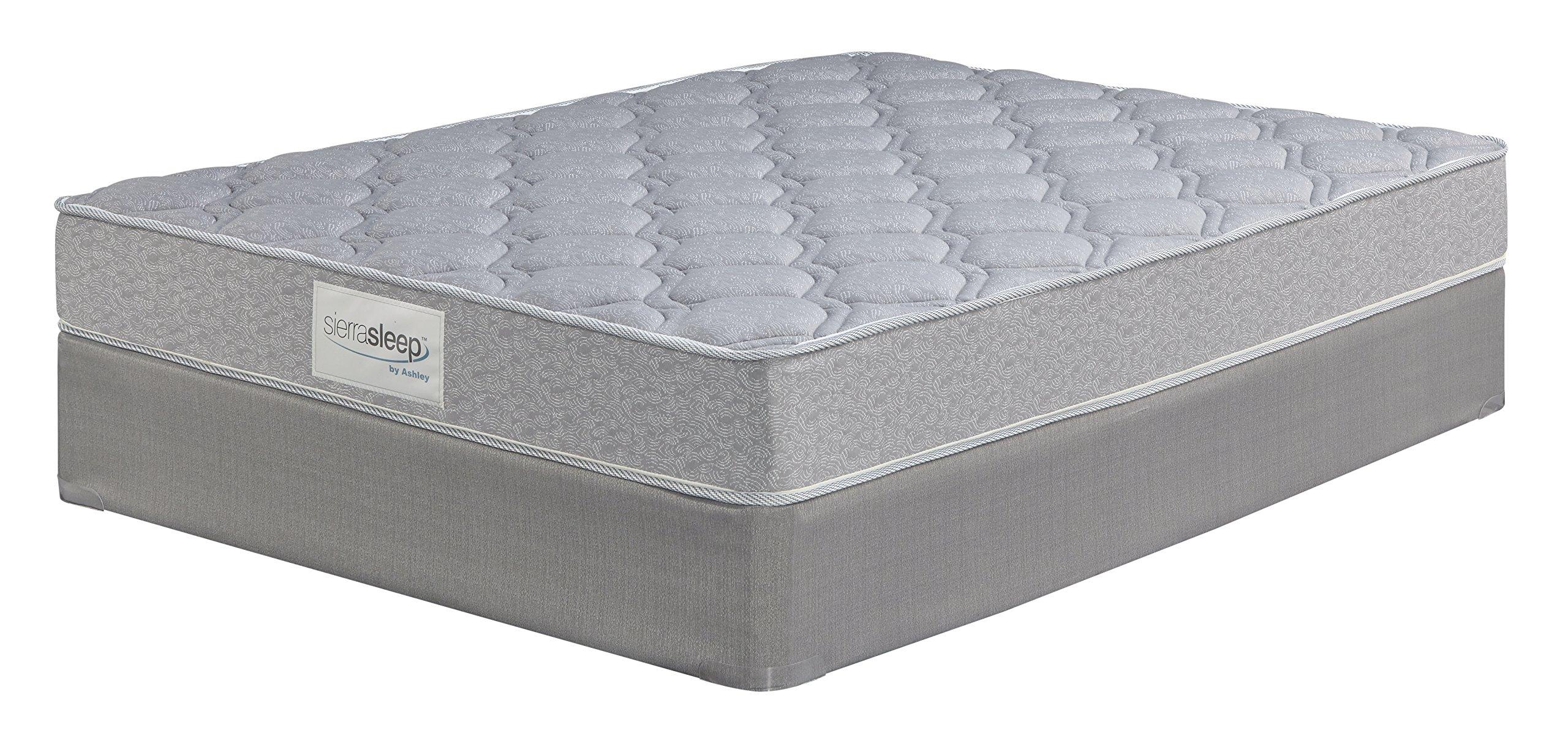 Ashley Furniture Signature Design - Sierra Sleep - Silver Ltd. Firm Tight Top Mattress - Traditional Twin Size Mattress - White