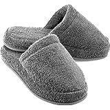 EuropeanSoftest Women's Cozy Memory Foam Premium 100% Turkish Terry Cotton Cloth SPA House Indoor Slipper