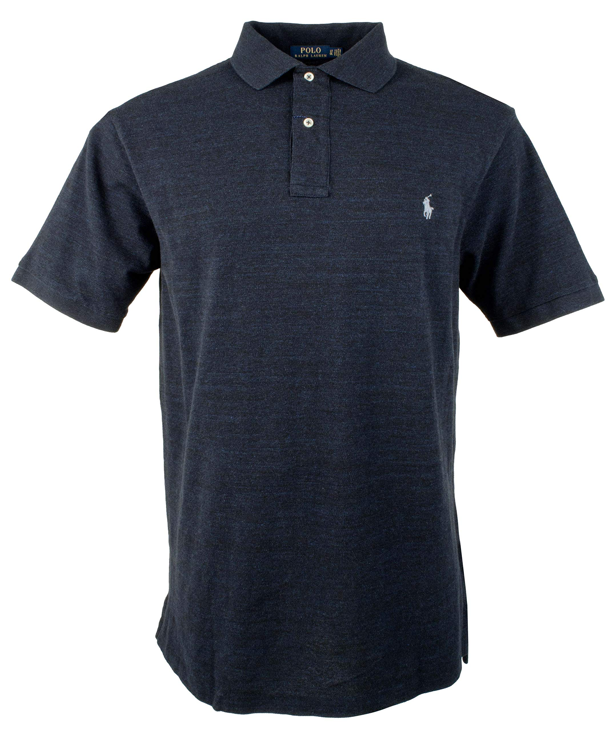 Polo Ralph Lauren Mens Big & Tall Big Tall Weathered Mesh Polo Shirt (3X Tall, Worth Navy Heather)