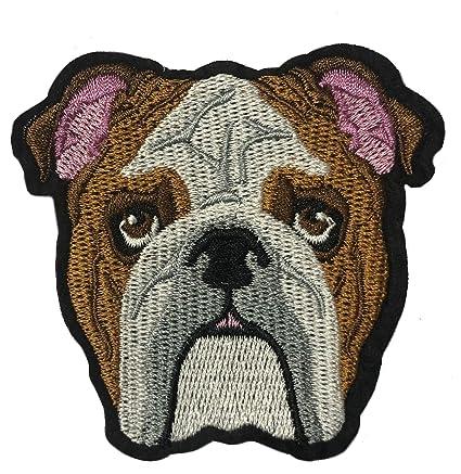 Amazon.com: Parche bordado de Bulldog, para planchar o coser ...