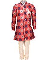 Klaud Zee Kid's Sherwani and Breeches Set