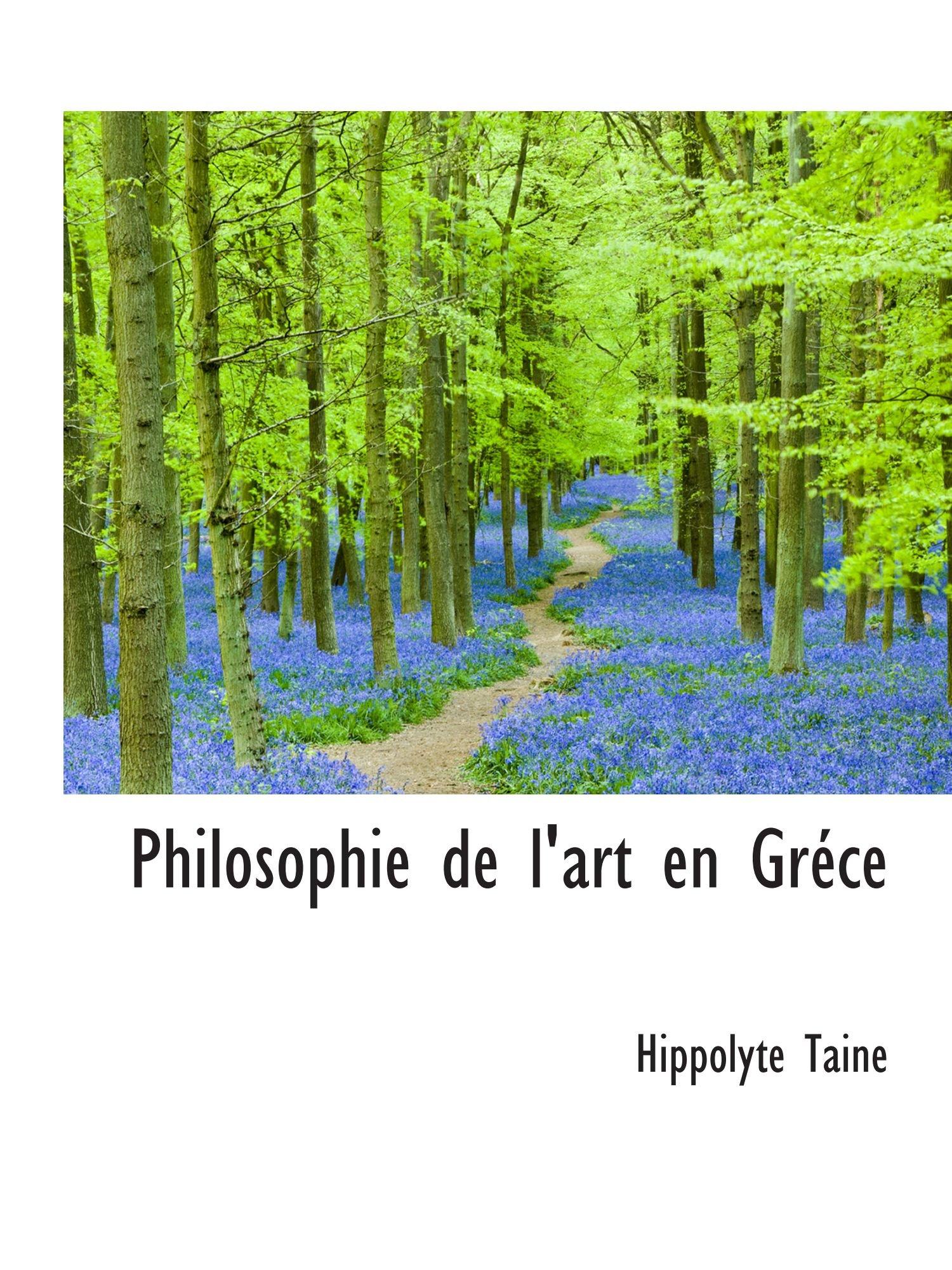 Philosophie de l'art en Gréce pdf epub